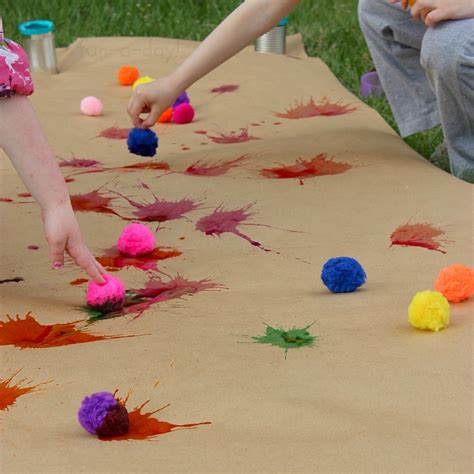 drop splat playful preschool with watercolors