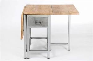 Table Bois Metal Extensible : table extensible en bois et m tal ~ Teatrodelosmanantiales.com Idées de Décoration