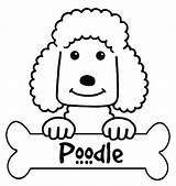 Poodle Coloring Pages Printable French Silhouette Outline Colouring Skirt Standard Getcolorings Designlooter Getdrawings Silhouettes sketch template