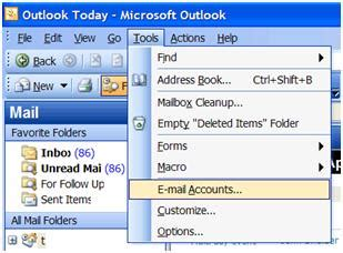 outlook email on iphone outlook 2003 pop3 setup cloudmail 2500