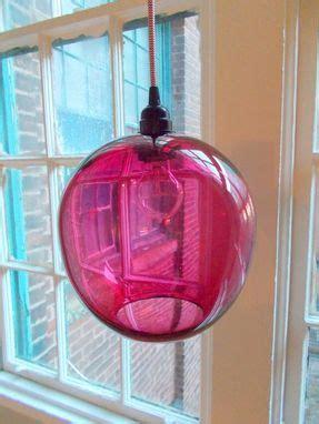 custom   globe hand blown glass pendant lighting