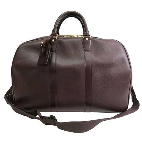 louis vuitton brown leather mens weekender travel duffle bag  stdibs