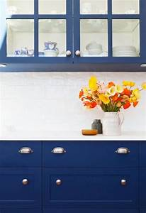 blue kitchen cabinets contemporary kitchen arent pyke With what kind of paint to use on kitchen cabinets for cobalt blue wall art