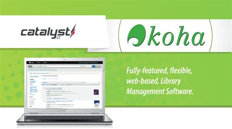 Introduction to Koha - free and open source library management system   Catalyst