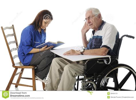 volunteer with the elderly stock photos image 28464113