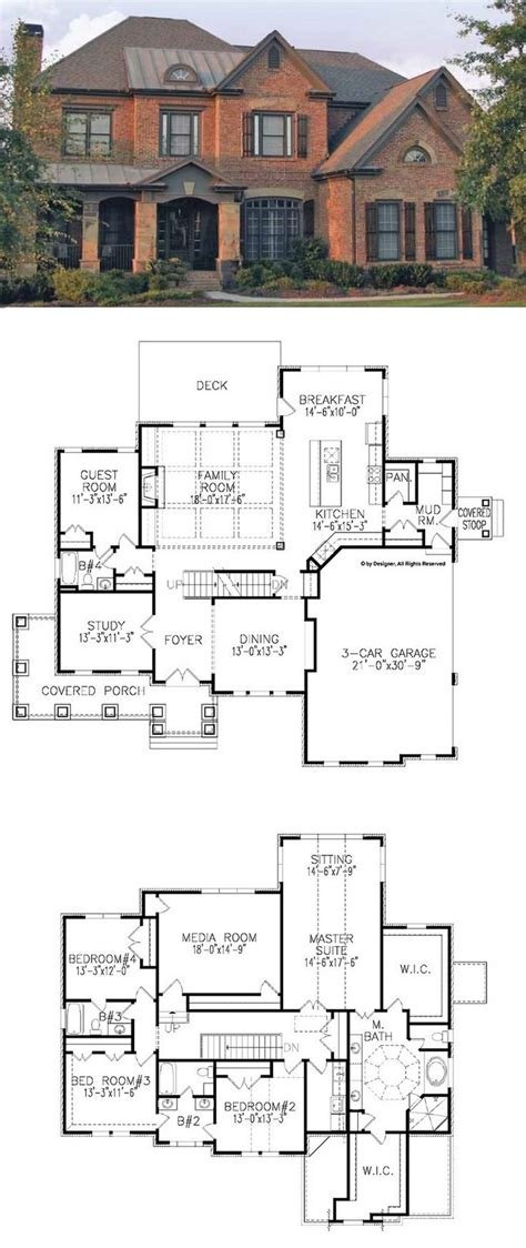 traditional floor plans traditional house plan with 3962 square and 5