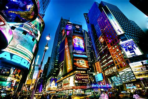 times square new york usa city cities neon lights g