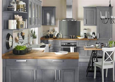 cuisine et bois decoration cuisine grise et bois 08060551 cuisine grise