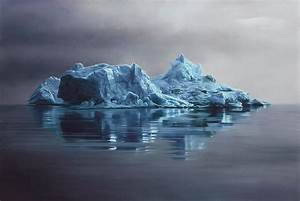 hyper realistic pastel drawings of greenland 39 s icebergs