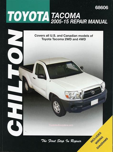 motor auto repair manual 2005 toyota tacoma spare parts catalogs toyota tacoma repair manual 2005 2015 2wd 4wd chilton