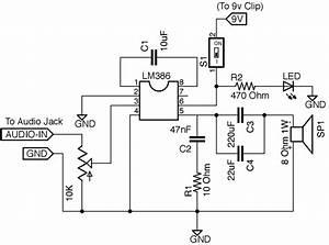mini guitar amp With snap circuit case