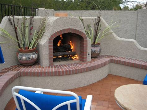 amazing outdoor stucco fireplace ideas