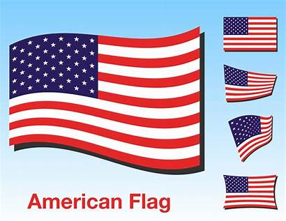 Flag Vector American Clipart Usa Resolution Clip