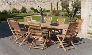 Salon De Jardin En Teck Massif Haut De Gamme : mobilier de jardin en teck brut table extensible chaises pliantes ~ Teatrodelosmanantiales.com Idées de Décoration