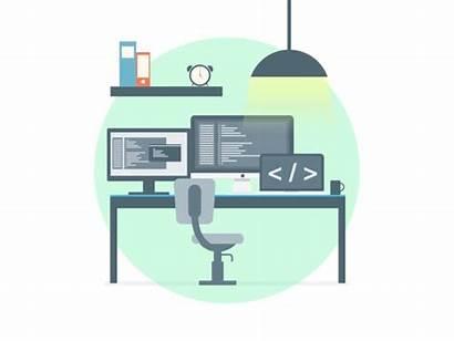 Workspace Developer Animated Illustration Dev Motion Dribbble