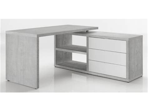 bureau d angle gris bureau d 39 angle reversible ufficio blanc gris beton