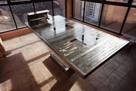 bureau en acier création d 39 une table bureau en acier et verre à aix en