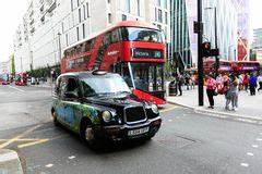 London bus and cab editorial stock photo. Image of english ...