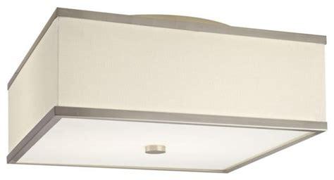 corona 17 white waffle square flush mount modern flush