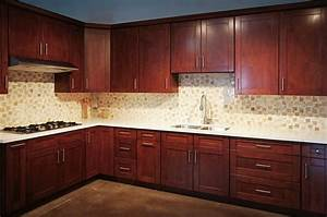 Mahogany Shaker RTA Cabinets - Cabinet City Kitchen and Bath