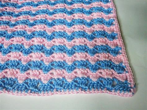 crocheted baby blankets quick striped crochet baby blanket favecrafts com