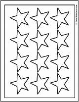 Coloring Stars Sheet Twelve Printable Pdf Colorwithfuzzy sketch template