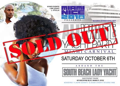 Miami Boat Party Columbus Day Weekend by Miami Nice 2018 The Annual Miami Carnival All White