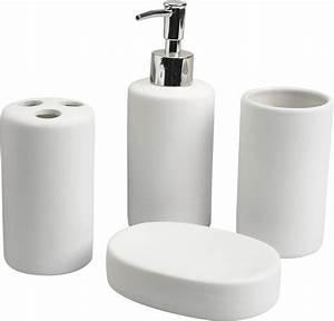 Accessoire Salle De Bain : coffret accessoires de salle de bain elsa ~ Teatrodelosmanantiales.com Idées de Décoration