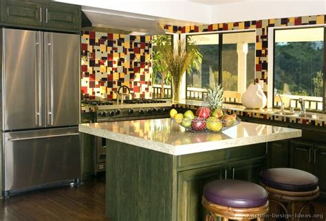 pictures  kitchens traditional green kitchen cabinets