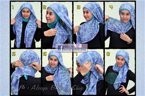 memakai kerudung paris segi empat  tutorial memakai jilbab hijab modis