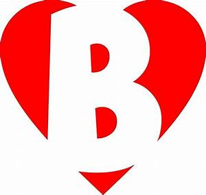 """I love B - Heart B - Heart with letter B"" by ..."