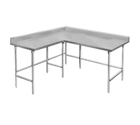 touch desk l stainless steel advance tabco ktms 306 l shaped corner stainless steel