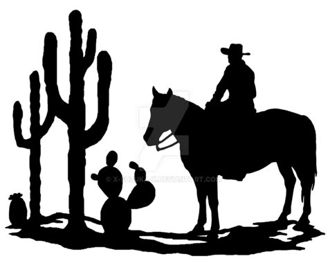 western scene silhouette clip art pictures to pin on
