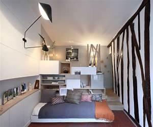12 square meter room transformed into a mini studio With comment meubler un petit studio 11 idee amenagement studio 27m2