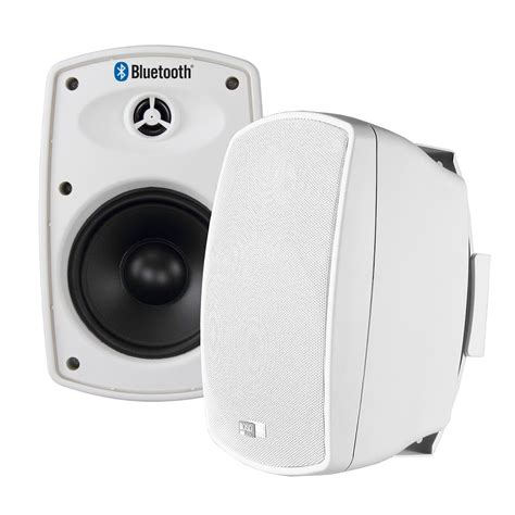 wireless outdoor patio speakers btp650 wireless 6 5 quot bluetooth 2 way outdoor patio speaker