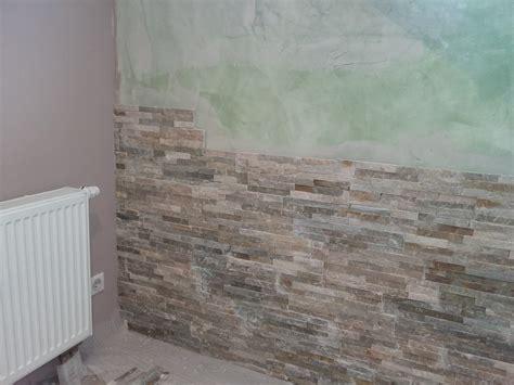 bricolage de l id 233 e 224 la r 233 alisation mur en parement naturel beige