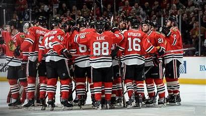 Blackhawks Chicago Wallpapers Players Salute Teams Hockey