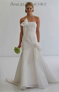 wedding dress with a bow neckline sang maestro With bow wedding dress