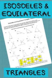 isosceles  equilateral triangles puzzle worksheet