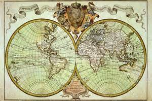 kitchen collectables store historic 1720 world map antique style