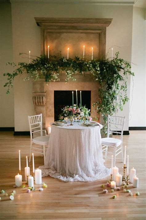 romantic wedding table setting ideas  couples