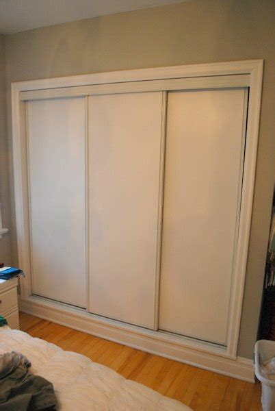 How To Adjust Sliding Closet Doors by How To Paint Faux Trim On Closet Doors Hometalk