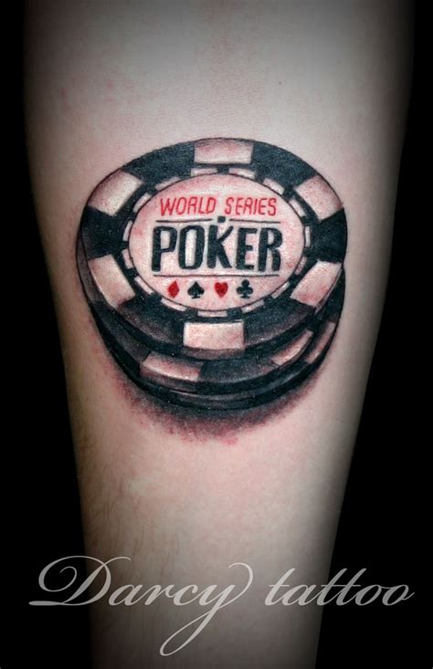 casino chips tattoos