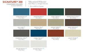 MBCI Metal Roof Color Chart