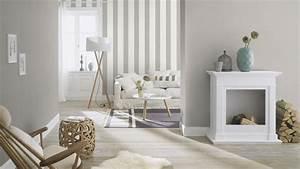Tapeten Modernes Wohnen : vliestapete streifen gestreift rasch prego wei grau 700251 ~ Frokenaadalensverden.com Haus und Dekorationen