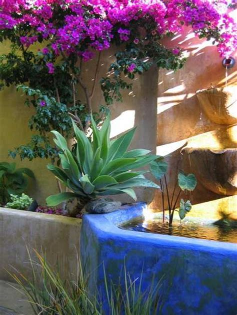 mexican style garden designs  yard landscaping ideas