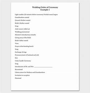event program outline 13 printable samples examples With christian wedding ceremony outline