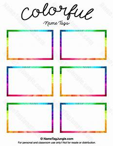 free printable colorful name tags the template can also With colorful labels templates