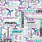 gymnastics fabric, wallpaper & gift wrap - Spoonflower