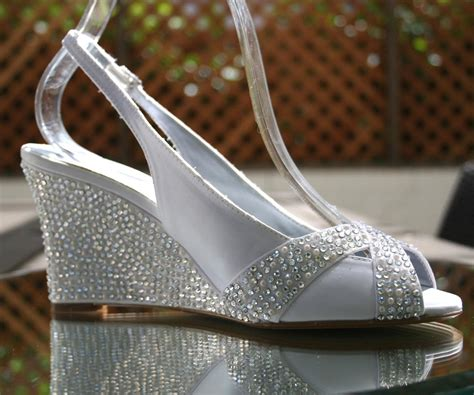 Wedding Shoes -- Ivory Wedding Wedges With Ivory Pearl And